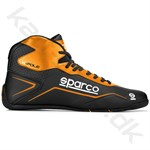 Sparco K-Pole sko, sort/orange fluo, str. 26-48