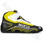 Sparco K-Run sko, sort/gul fluo, str. 26-48