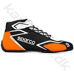 Sparco K-Skid sko, sort/orange fluo, str. 35-48