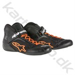 Alpinestars Tech 1-K sko, sort/orange fluo str. 34-47