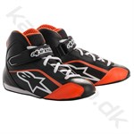 Alpinestars Tech-1 KS sko, sort/hvid/orange fluo, str. 30-32