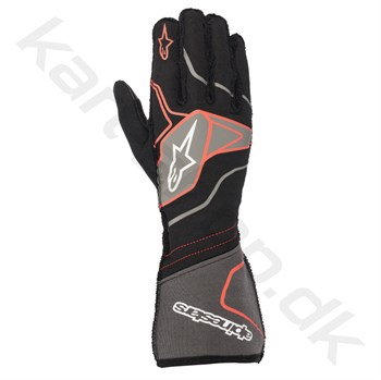 Alpinestars Tech-1 ZX v2 handske, sort/anthracite/rød, Str. S - XXL